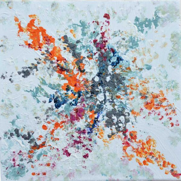 Tavla Nebulosa 1   Akrylmålning av Inger Johnsson
