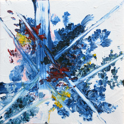 Tavla Nebulosa 3 | Akrylmålning av Inger Johnsson