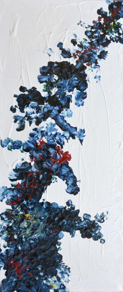 Tavla Nebulosa 2   Akrylmålning av Inger Johnsson